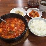 食堂ユリ - 料理写真:ランチ スンドゥブチゲ ライス付き