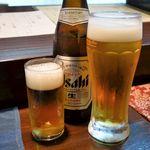 一善 - 瓶ビールと生ビール