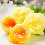 地鶏坊主 - 半熟玉子の天ぷら
