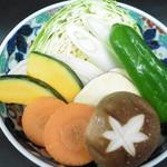 明月流川別館 - 野菜焼き
