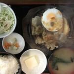 金太郎 - 同僚のサイコロステーキ定食 650円