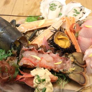 海老、蟹、牡蠣、ウニ、鮮魚、食べたいシーフードがコスパ良し!