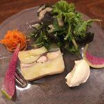 kaFka - 鯖とジャガイモのテリーヌ、新玉葱ムースのサラダ