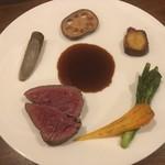 kaFka - 宮崎県産牛フィレ肉ステーキ 彩り焼き野菜
