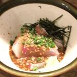 Hakatayoshiuo - 胡麻かんぱち 肉厚!!弾力がよくほんと絶品。ごま鯖も次は食べにきたいわぁ。