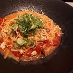 82499982 - 鶏そぼろと茄子の味噌トマト ネギてんこ盛り