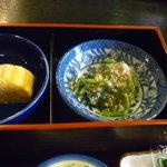 食事処桔梗 - 玉子焼き、白和え