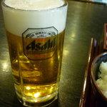 食事処桔梗 - 生ビール中