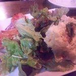 えべっさん - 厚切りベーコンとポテトサラダ