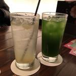 夢や京恋しずく - 生搾りレモンサワーと抹茶ハイ。