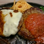 ステーキのどん - Wハンバーグランチ(チーズイン150g,ハンバーグ130g)