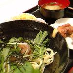 タマクシ - ここでしか食べれない『シャリキーン零麺』たるものを発見!出汁がシャーベット状になっていて、涼しぃ~!!