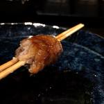 炭火焼鳥 鶏拓 - (特別に出して頂いた)       生つくね串