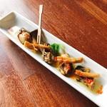 千の台所 - 料理写真:牡蠣のガーリックオイル漬け