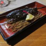鶴我 - 川内村の岩魚の囲炉裏焼き1
