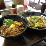 杉本食堂 - スタミナ丼(並)と焼そば