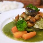 うたげ - 真鯛のワイン蒸しほうれん草のソース