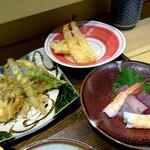 ワイン・寿司・天ぷら 魚が肴 - アップ !!