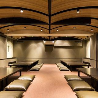 【落ち着きある空間】個室最大45名様◎大人数でのご宴会にも