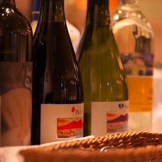 豊富なワインは2500円~!