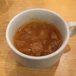 大手町ワインバル 八十郎商店 - ランチに付くスープ
