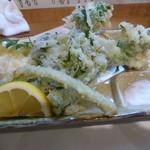 やまんそら - 春野菜の天ぷら