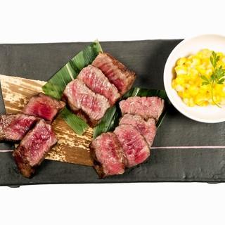 豪華ステーキ3種盛と選べるランチセット