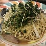 東京イタリア酒場P - 豚ばら肉と長ネギの和風パスタ