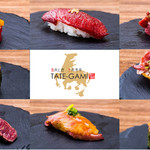 桜肉寿司と飛騨牛もつ鍋 TATE-GAMI -