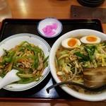 82529489 - 逸品味噌麺&ミニチンジョウロース飯