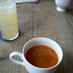 8253454 - グレープフルーツジュースと本日のスープ(ミネストローネ)