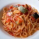 8253457 - フレッシュトマトとグリル野菜のトマトソースパスタ