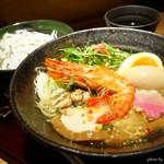 紀州麺処 誉 - 2018年2月 真鯛の塩ラーメン+有頭海老【880+250円】