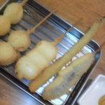 うまか家揚げ揚げ - 料理写真:おまかせ串揚げ5本セット ¥480