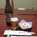 銀ちろ本店 - 瓶ビール(600円)とお通し