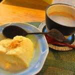 のんきぃ - 玄米珈琲(ランチにセット)と自家製プリン300円