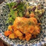野菜とつぶつぶ アプサラカフェ - 高野豆腐と野菜のトマトクリームグラタン