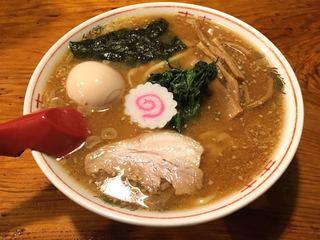 水戸中華そば むじゃき食堂 - 味噌ラーメン(味玉付き)(780円)
