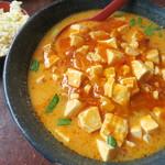 長秀龍 - マーボ担々麺(大盛)+ミニチャーハン