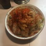 82556023 - 生郎熱盛ィイ!+極太麺                       ※ヤサイ、刻みニンニク、トウガラシ、アブラカタマリ