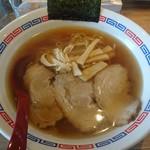 中華そば 青山 - 鶏だしダブル中華そば740円+麺大盛り150円(ネギ抜き