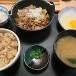 角打 丸の内 - 特製牛鍋定食