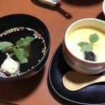 旅館 湯之迫 - 茶碗蒸しと汁物