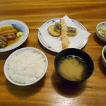 天ぷら ふそう - 料理写真:最初の配膳(╹◡╹)