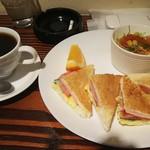 サンカフェ - サンドイッチセット(モーニング)