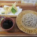 そばどころ つなぎや - 料理写真:お昼の天ざる¥1000