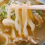 手打うどん 麦蔵 - うどんがスープに良くからみます(o^^o)