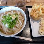 讃岐うどん萩屋 - かけうどん・天ぷら