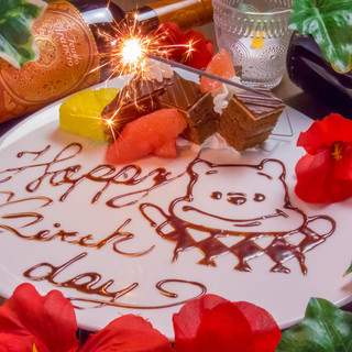 誕生日会や結婚のお祝い、送別会の感謝のメッセージに♪