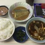 やまだ食堂 - 料理写真:鯖味噌定食、完成!